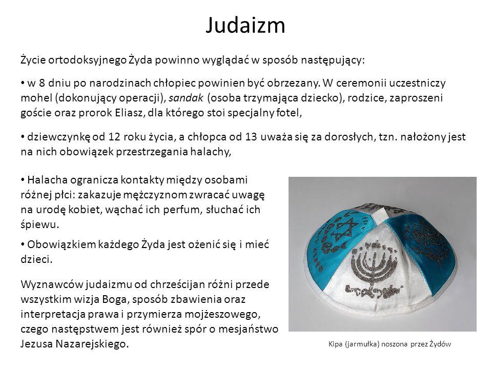 Judaizm Życie ortodoksyjnego Żyda powinno wyglądać w sposób następujący: