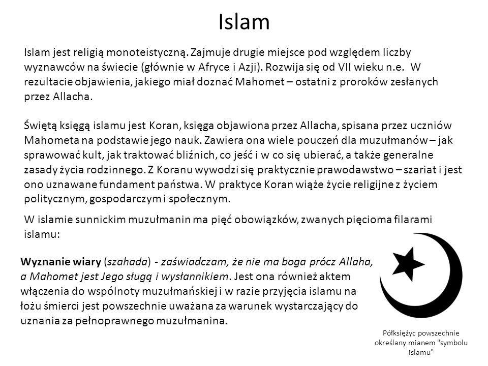 Półksiężyc powszechnie określany mianem symbolu islamu