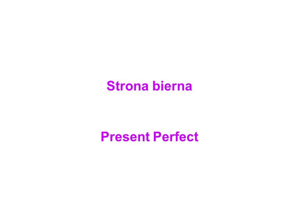 Strona bierna Present Perfect