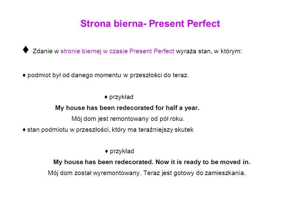 Strona bierna- Present Perfect