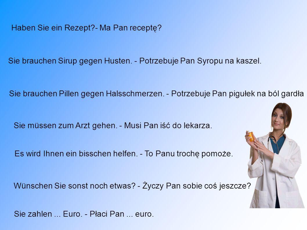 Haben Sie ein Rezept - Ma Pan receptę