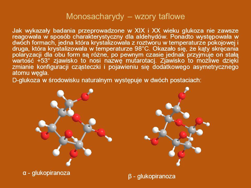 Monosacharydy – wzory taflowe