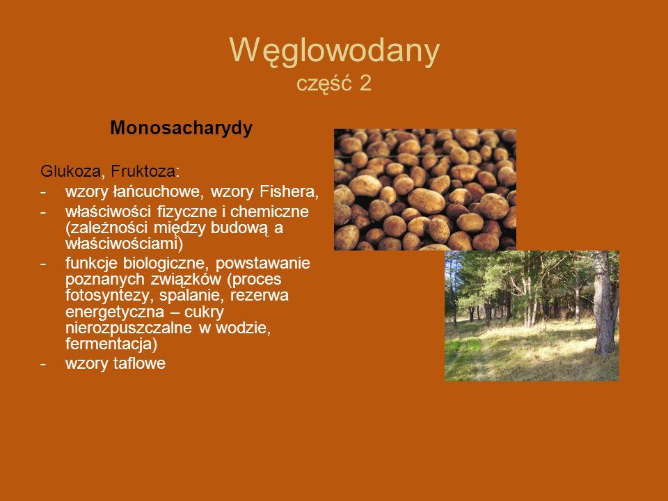 Węglowodany część 2 Monosacharydy Glukoza, Fruktoza: