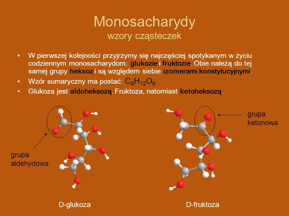 Monosacharydy wzory cząsteczek