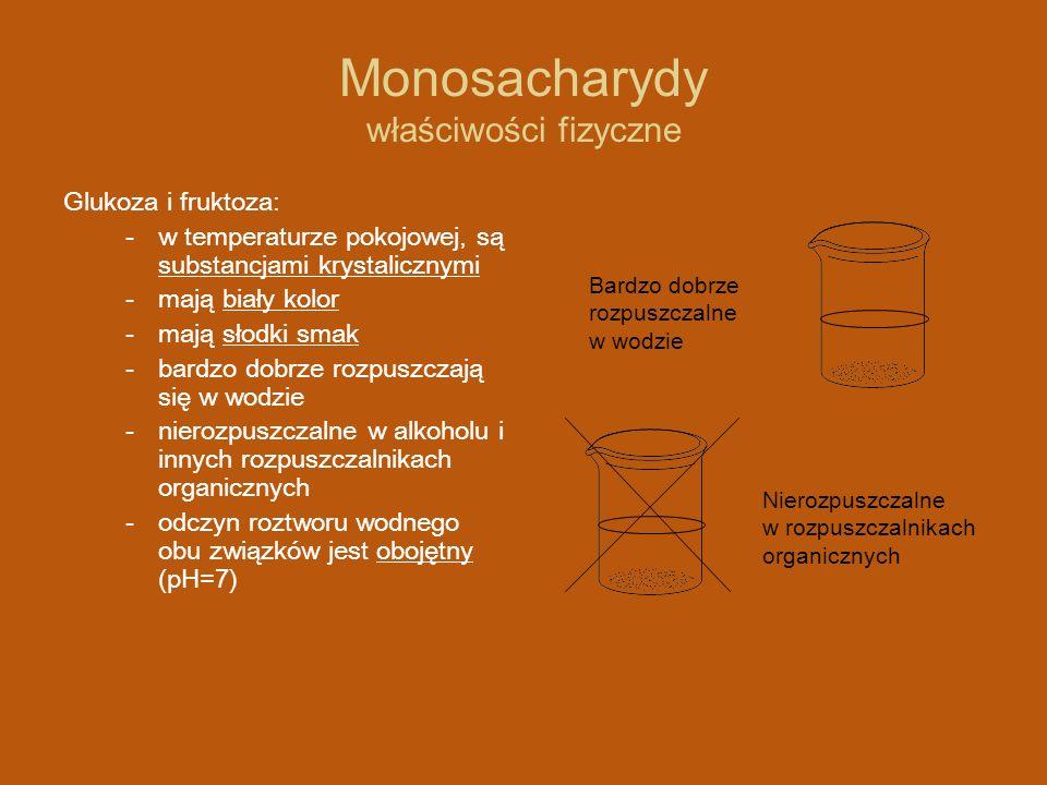 Monosacharydy właściwości fizyczne