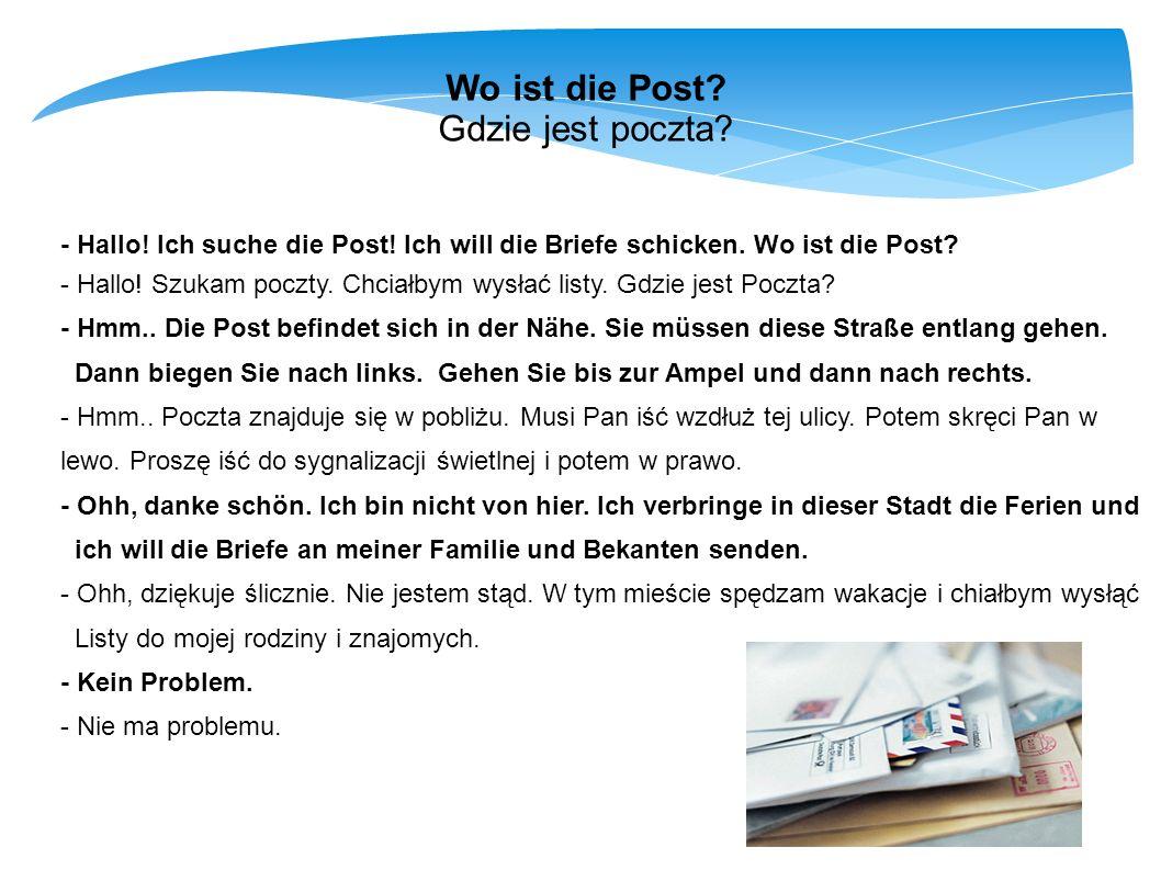 Wo ist die Post Gdzie jest poczta