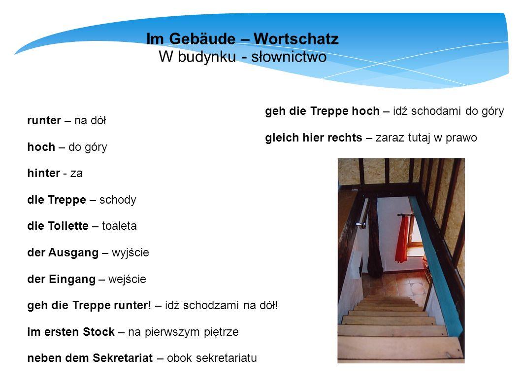 Im Gebäude – Wortschatz