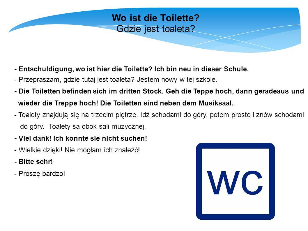 Wo ist die Toilette Gdzie jest toaleta