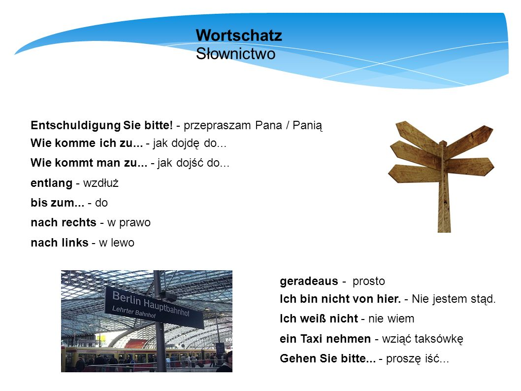 Wortschatz Słownictwo