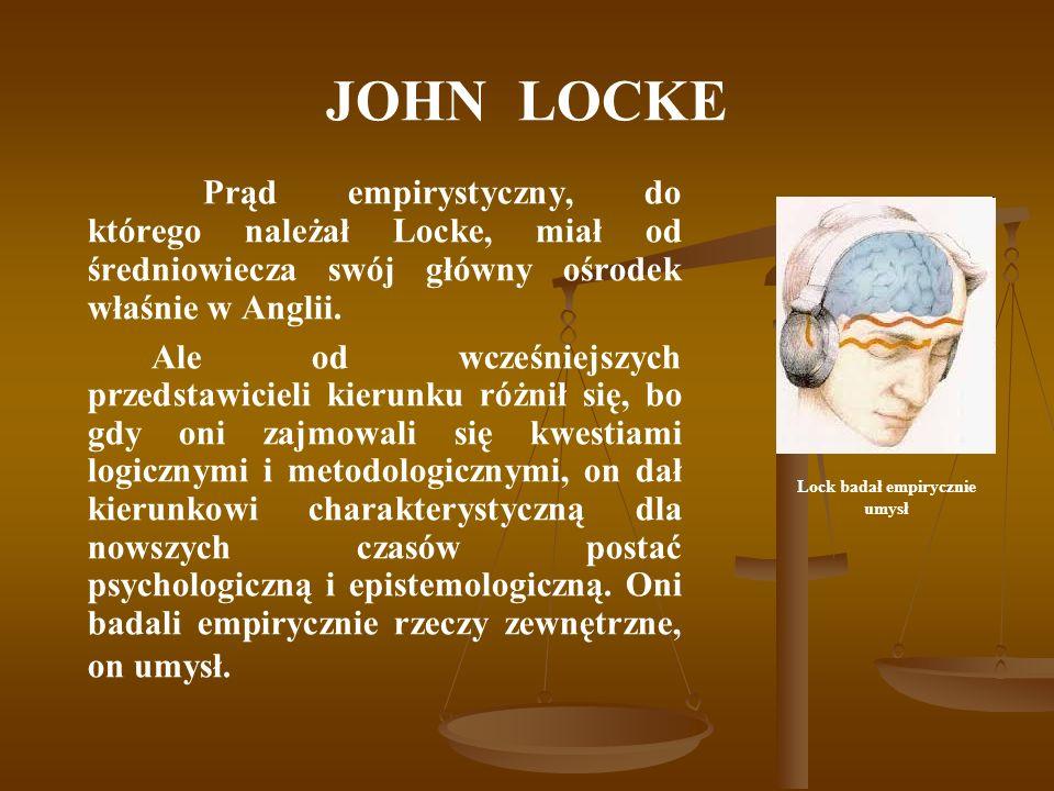 Lock badał empirycznie umysł