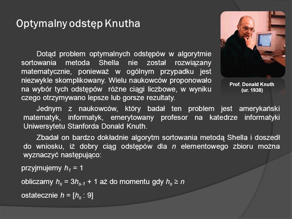 Optymalny odstęp Knutha