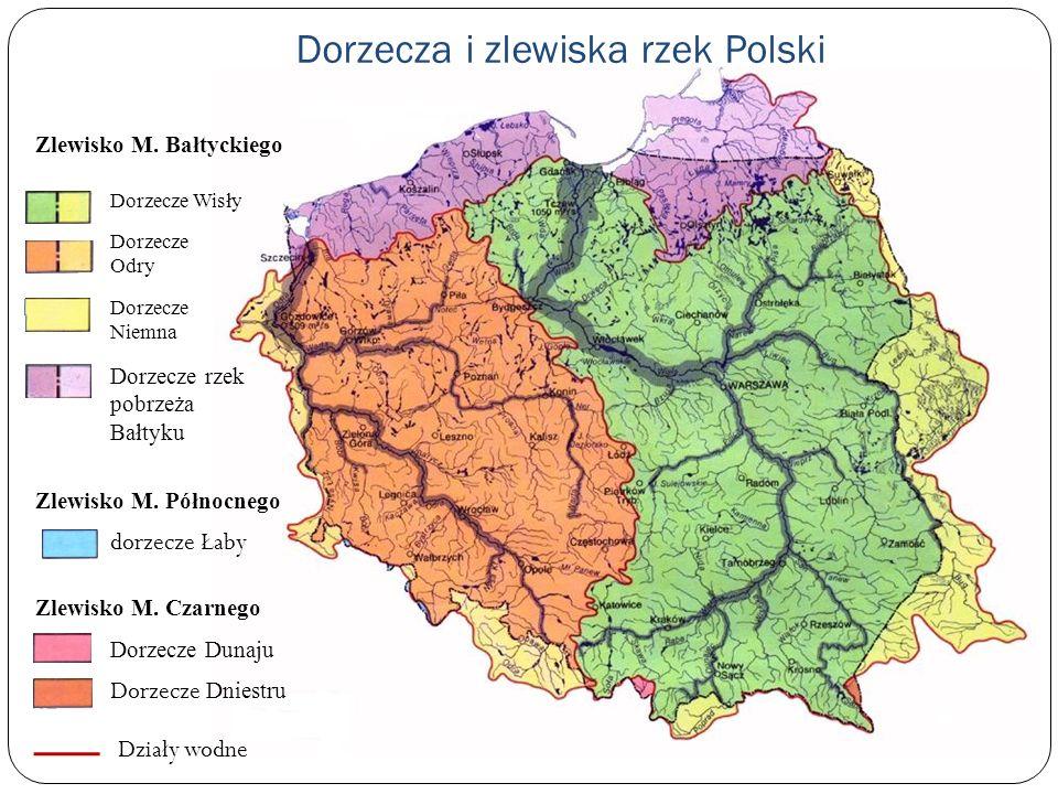 Dorzecza i zlewiska rzek Polski