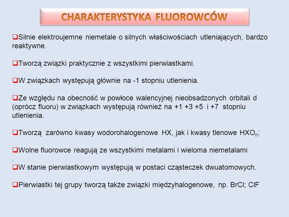 CHARAKTERYSTYKA FLUOROWCÓW