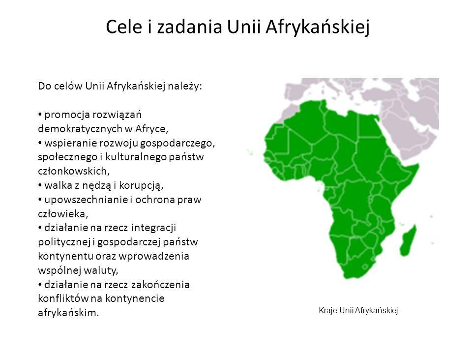 Cele i zadania Unii Afrykańskiej