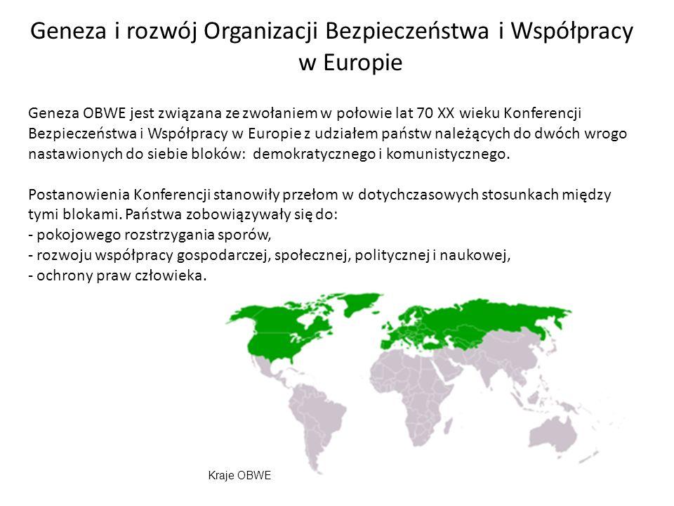 Geneza i rozwój Organizacji Bezpieczeństwa i Współpracy w Europie