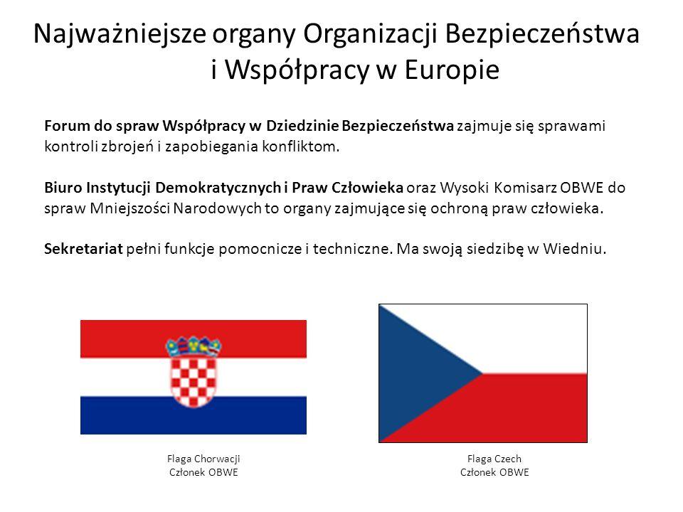 Najważniejsze organy Organizacji Bezpieczeństwa i Współpracy w Europie