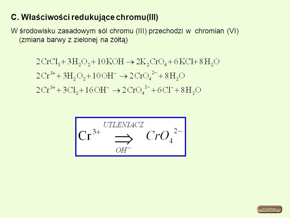 C. Właściwości redukujące chromu(III)