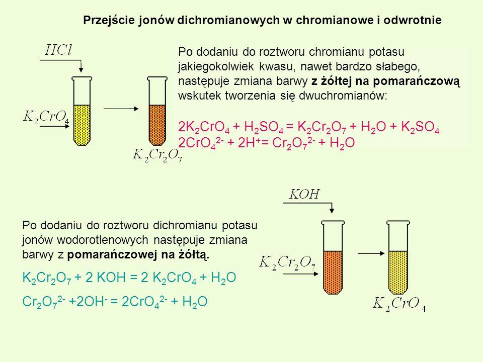 2K2CrO4 + H2SO4 = K2Cr2O7 + H2O + K2SO4 2CrO42- + 2H+= Cr2O72- + H2O