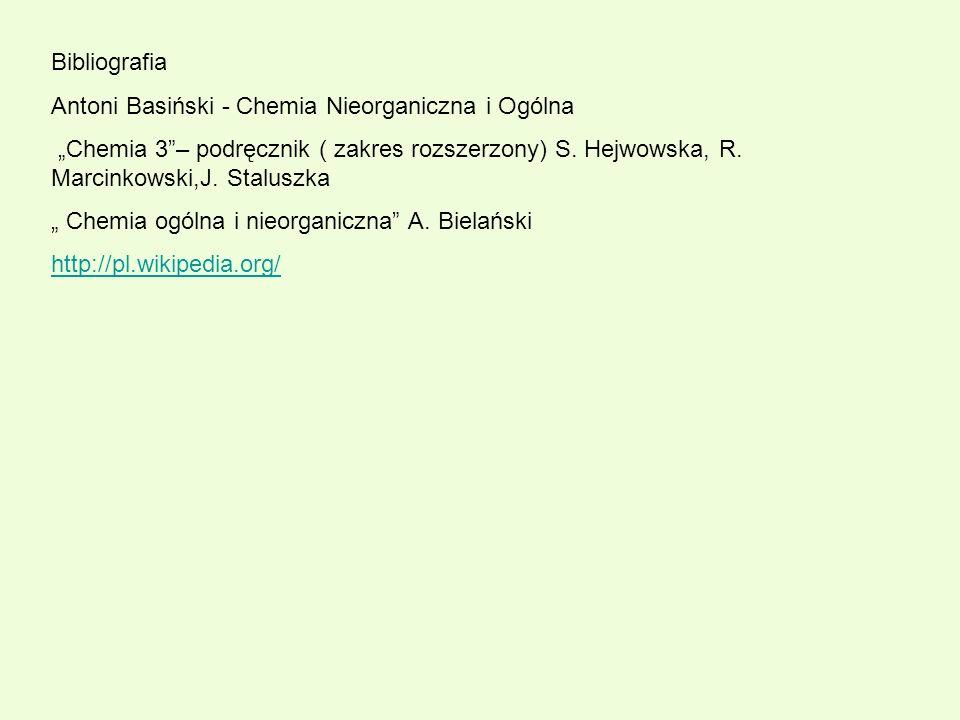 Bibliografia Antoni Basiński - Chemia Nieorganiczna i Ogólna.