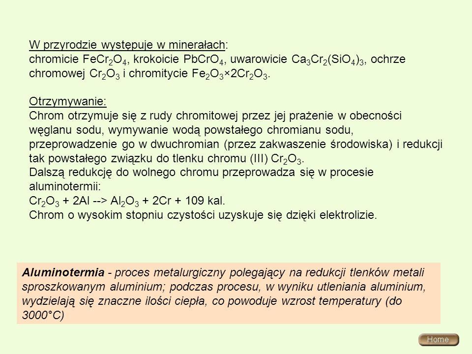 W przyrodzie występuje w minerałach: