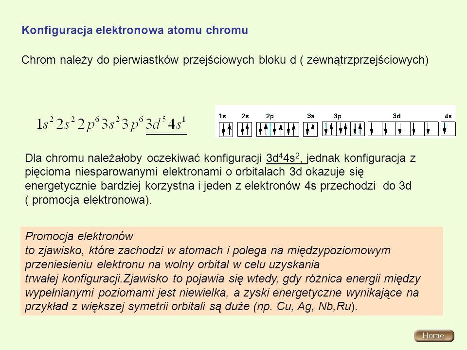 Konfiguracja elektronowa atomu chromu
