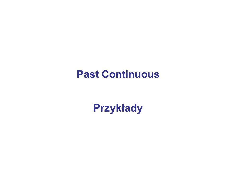 Past Continuous Przykłady