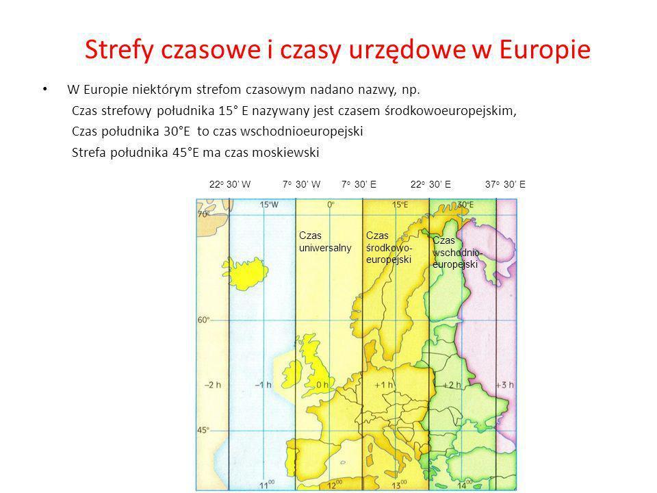 Strefy czasowe i czasy urzędowe w Europie