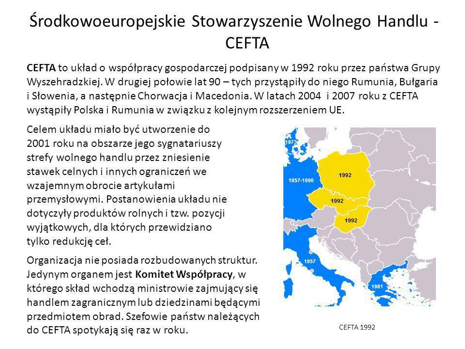 Środkowoeuropejskie Stowarzyszenie Wolnego Handlu - CEFTA