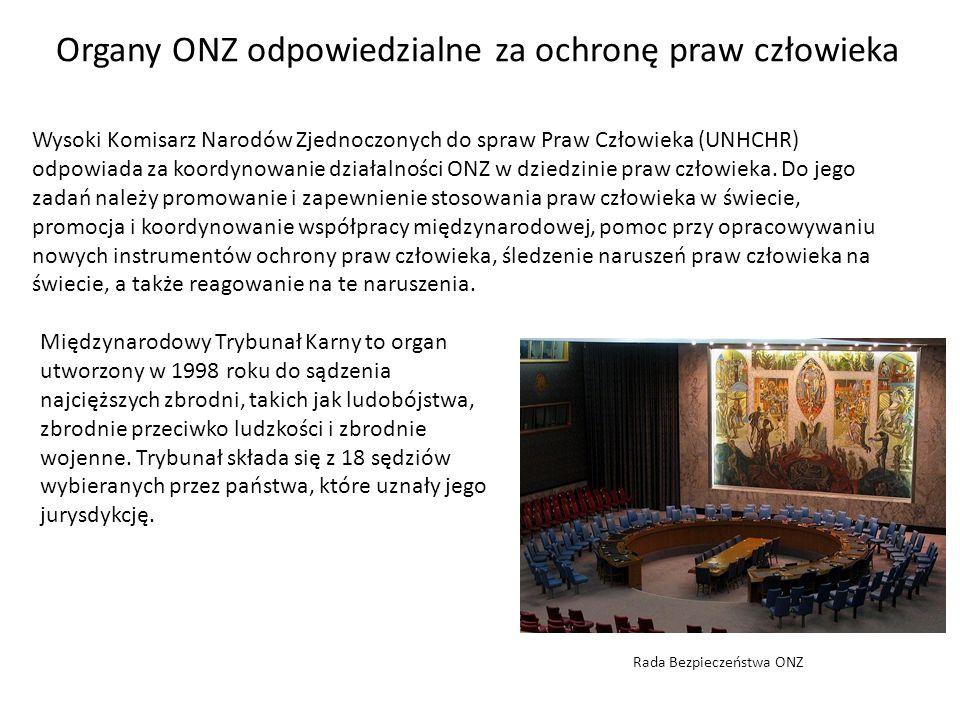 Organy ONZ odpowiedzialne za ochronę praw człowieka