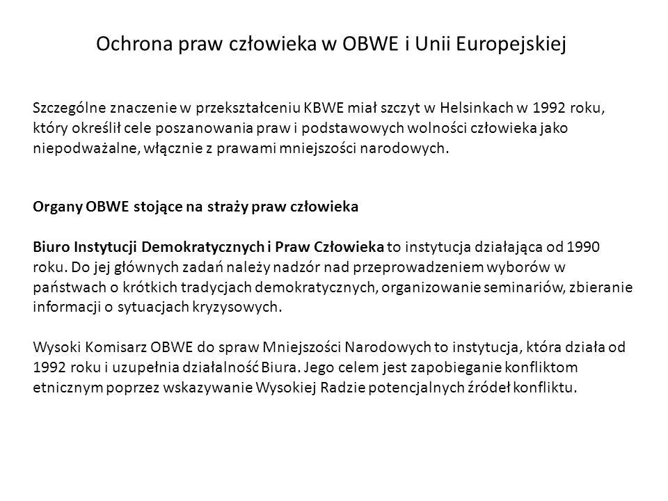 Ochrona praw człowieka w OBWE i Unii Europejskiej
