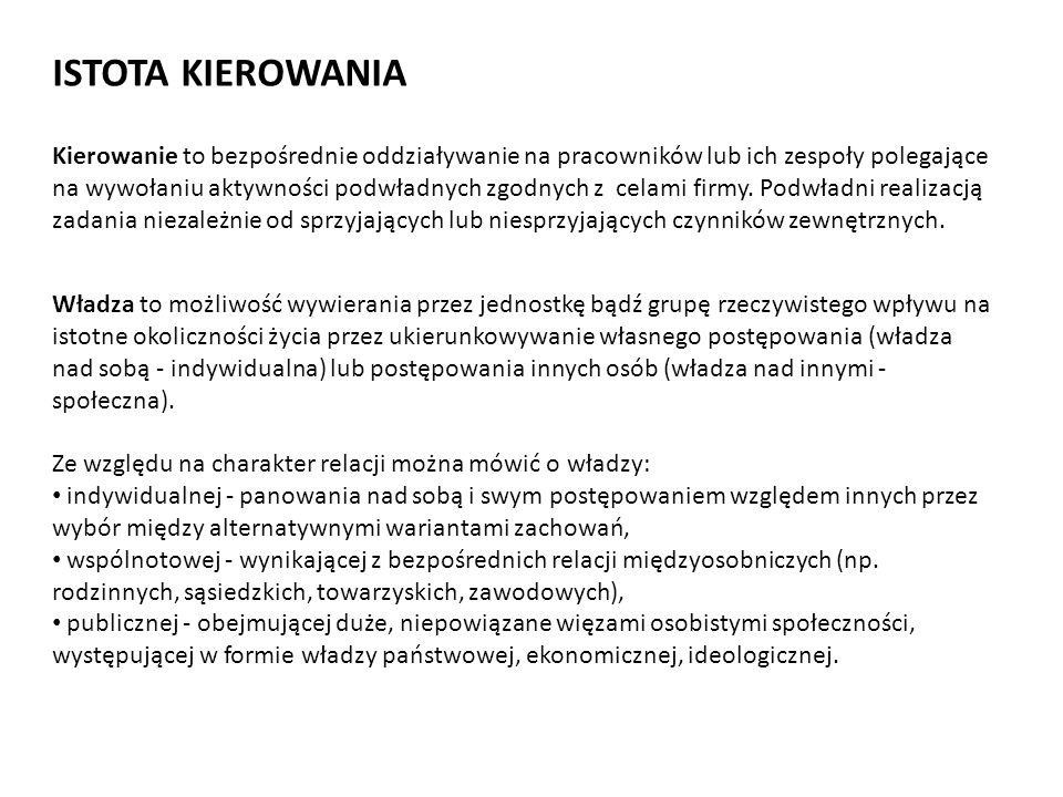 ISTOTA KIEROWANIA