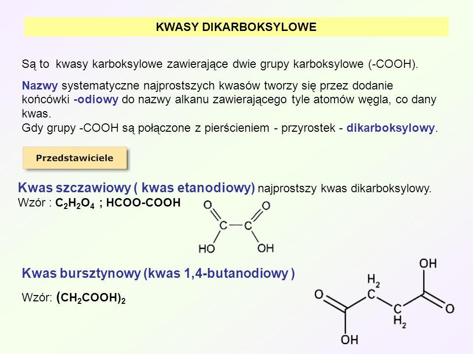 Kwas bursztynowy (kwas 1,4-butanodiowy )