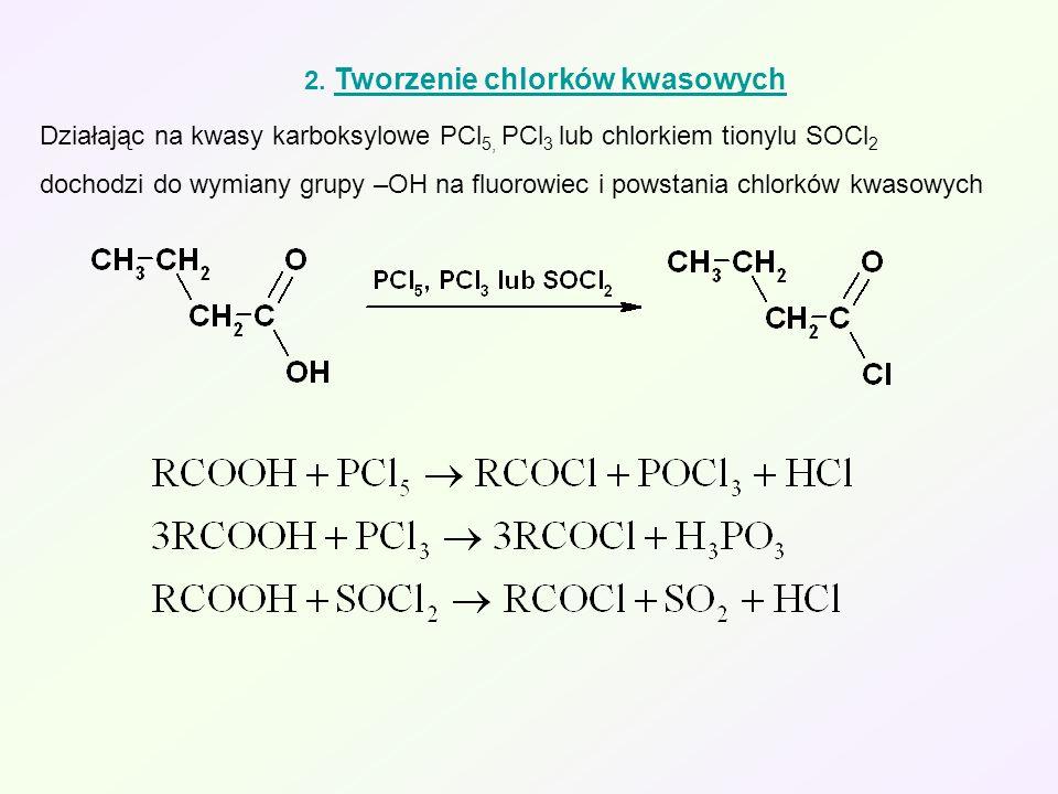 2. Tworzenie chlorków kwasowych