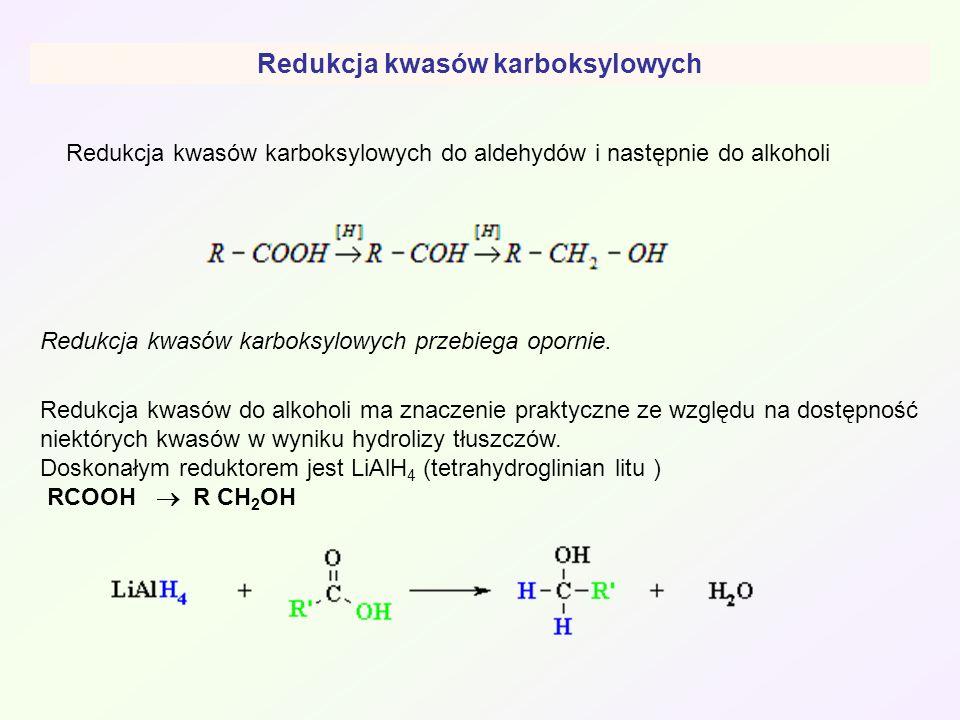 Redukcja kwasów karboksylowych