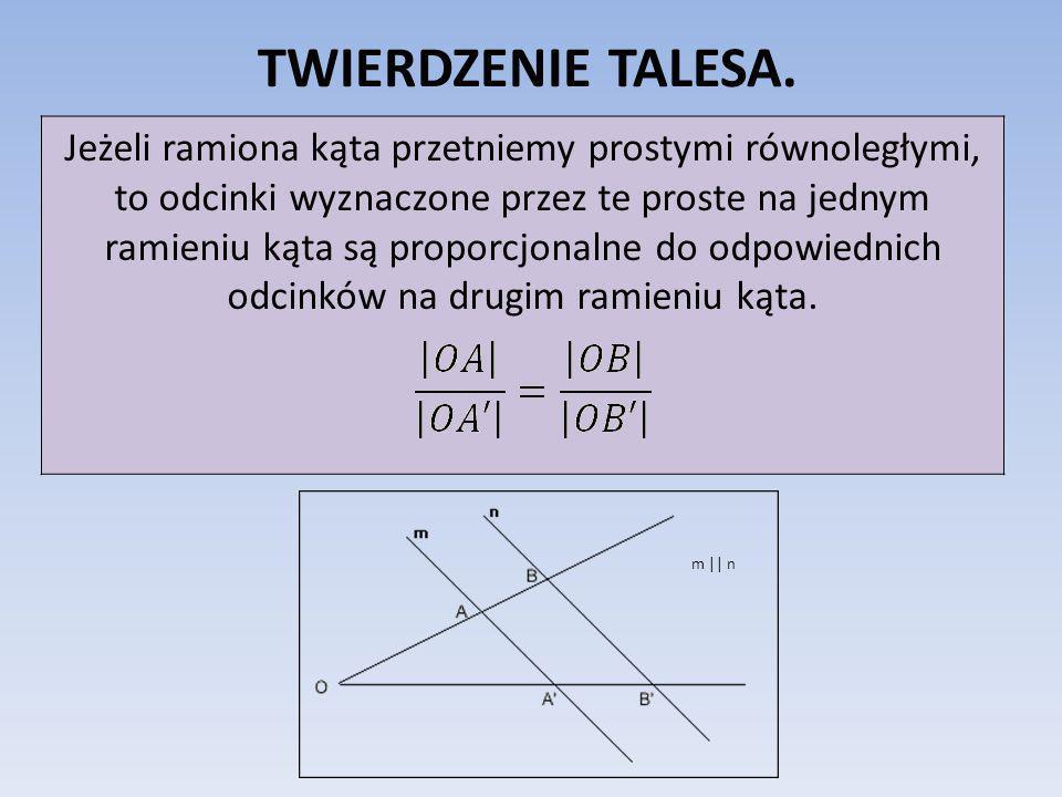 TWIERDZENIE TALESA.