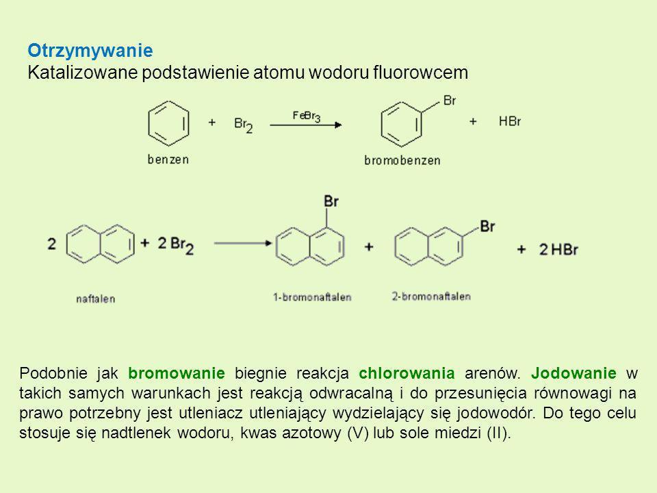 Katalizowane podstawienie atomu wodoru fluorowcem
