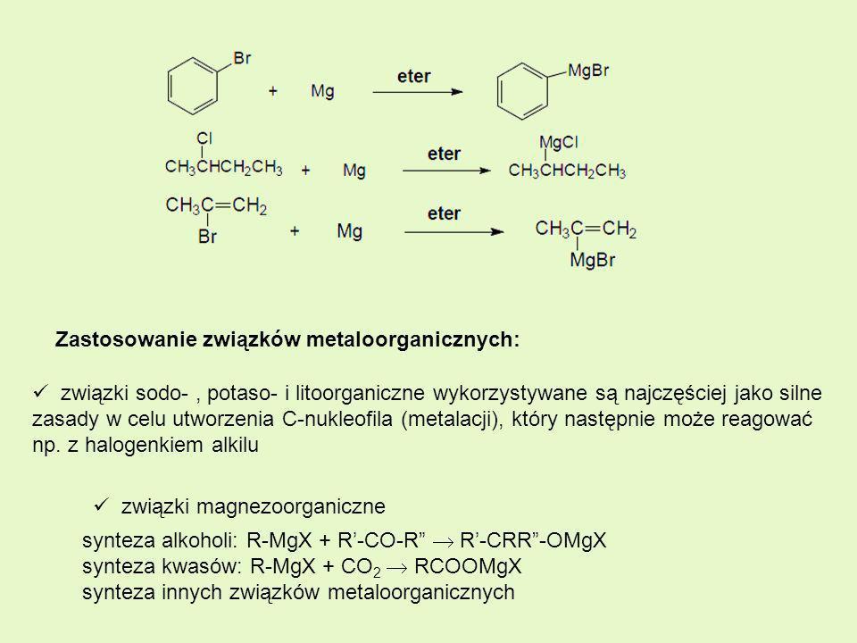Zastosowanie związków metaloorganicznych: