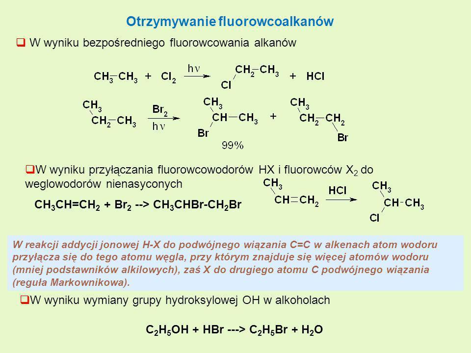 Otrzymywanie fluorowcoalkanów