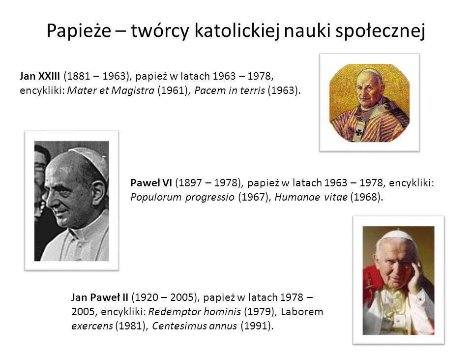 Papieże – twórcy katolickiej nauki społecznej