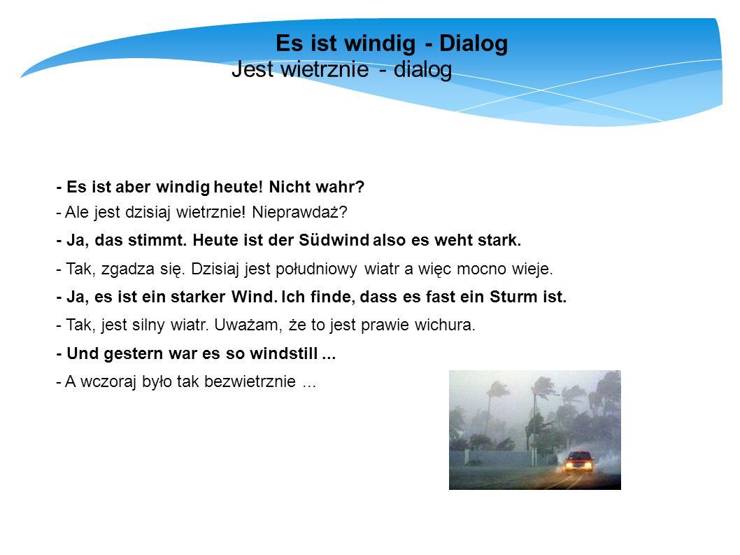 Jest wietrznie - dialog