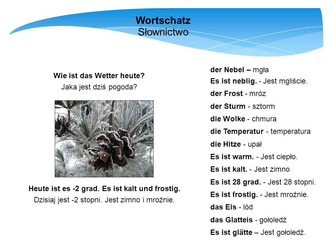 Wortschatz Słownictwo der Nebel – mgła Es ist neblig. - Jest mgliście.