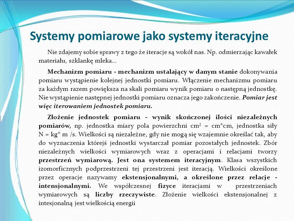 Systemy pomiarowe jako systemy iteracyjne