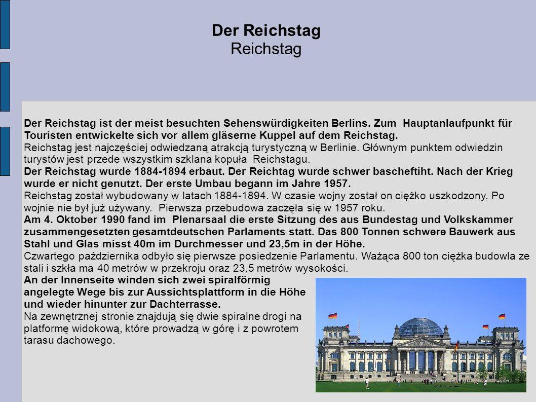 Der Reichstag Reichstag