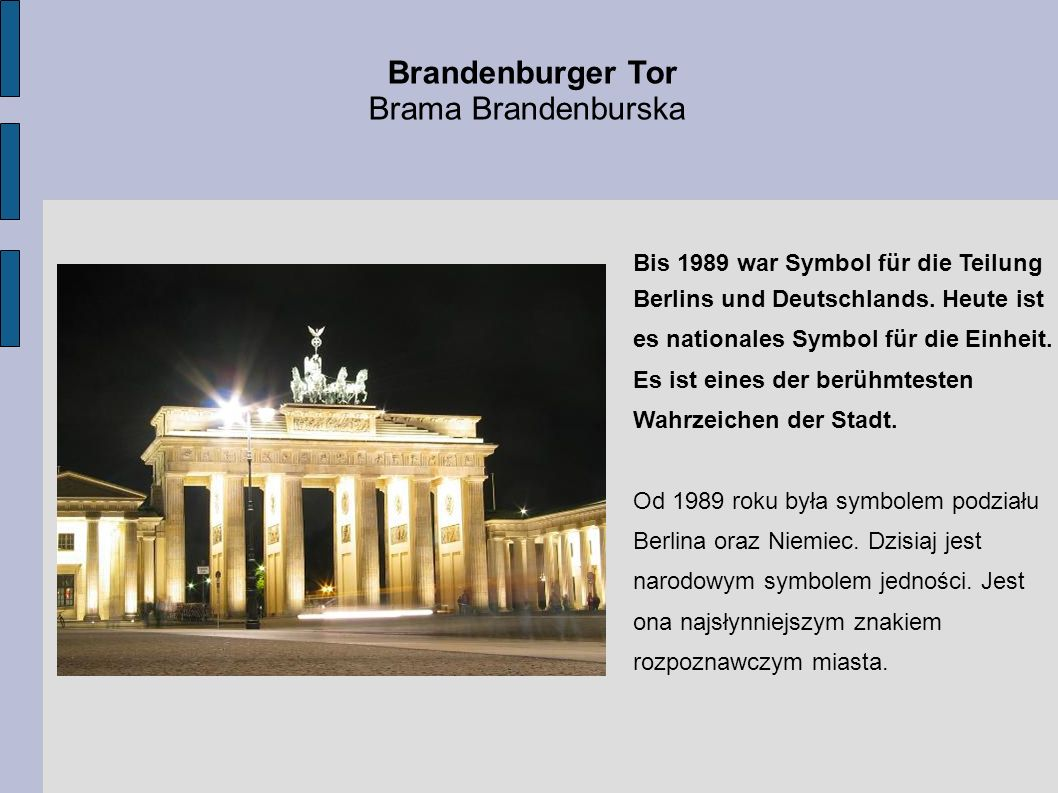 Brandenburger Tor Brama Brandenburska