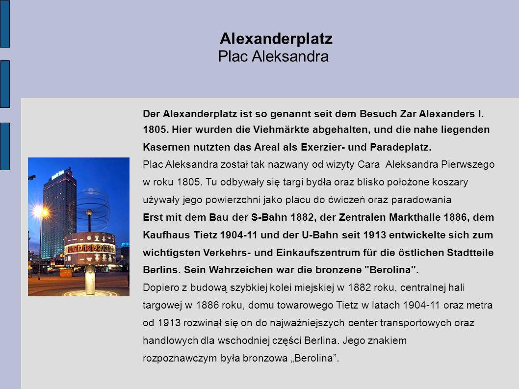 Alexanderplatz Plac Aleksandra