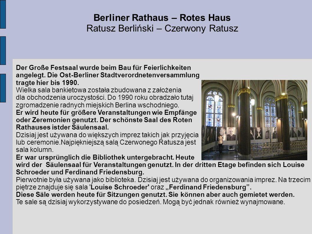 Berliner Rathaus – Rotes Haus