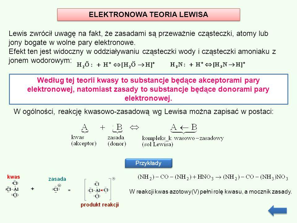 ELEKTRONOWA TEORIA LEWISA