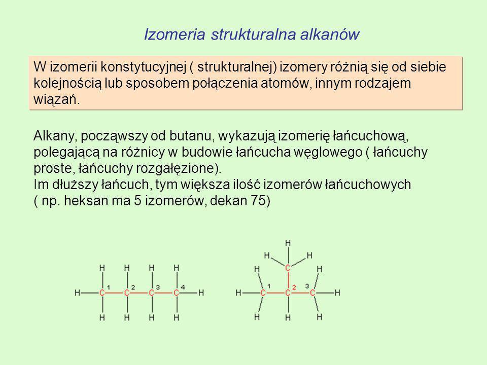 Izomeria strukturalna alkanów