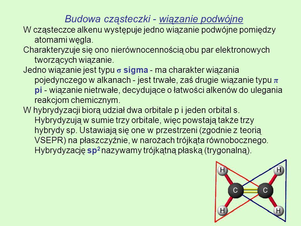 Budowa cząsteczki - wiązanie podwójne
