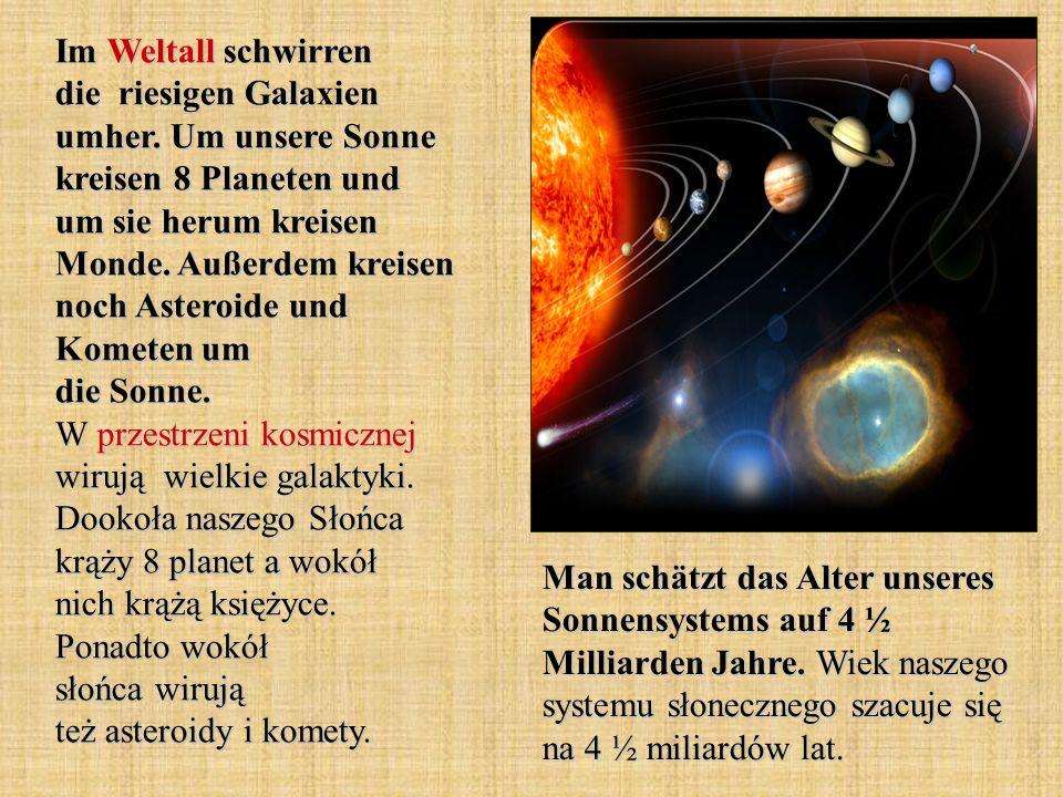 Im Weltall schwirren die riesigen Galaxien umher